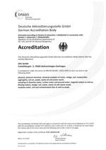 Akkreditierungsurkunde DIN EN 17025